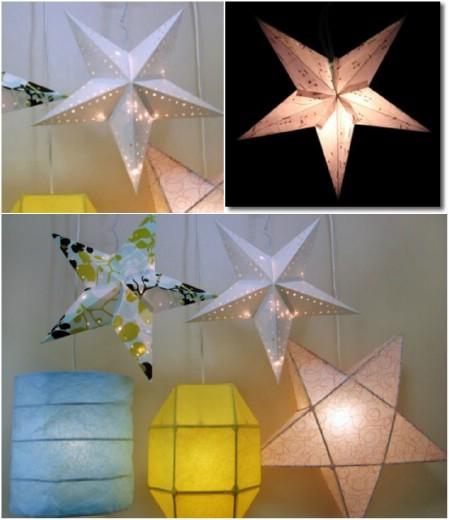 Как выглядят рукодельные подарки, интересные вашим близким: классическая скандинавская звезда-ночник из бумаги