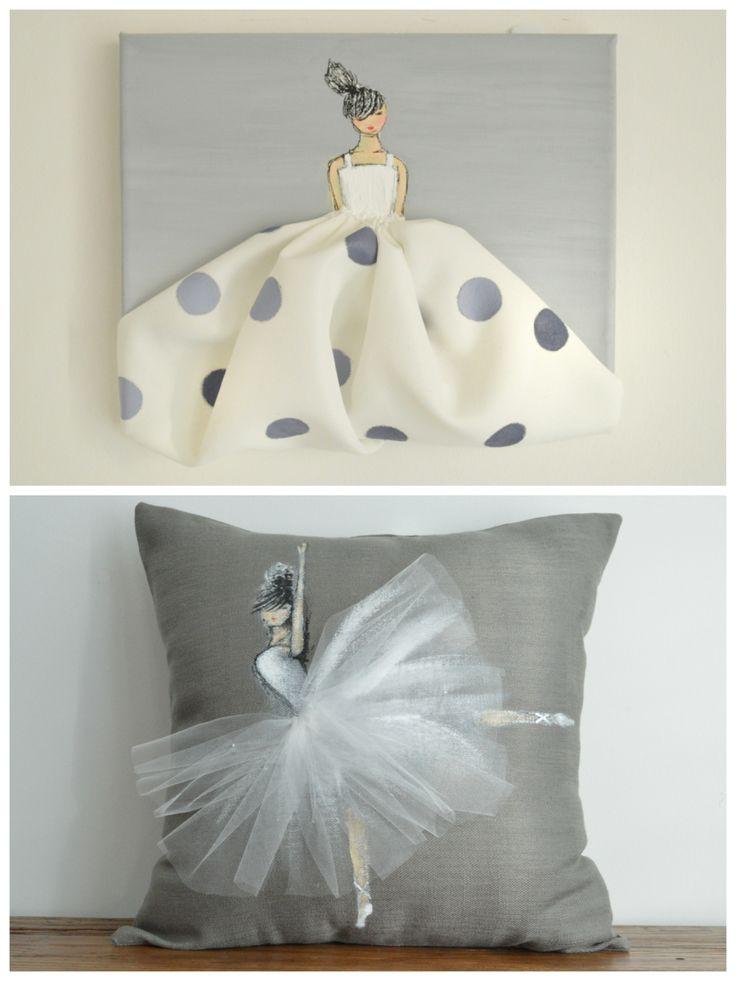 Как выглядят рукодельные подарки, интересные вашим близким: декоративные подушки и серии наволочек к ним - подушки с куклами и балеринами на них