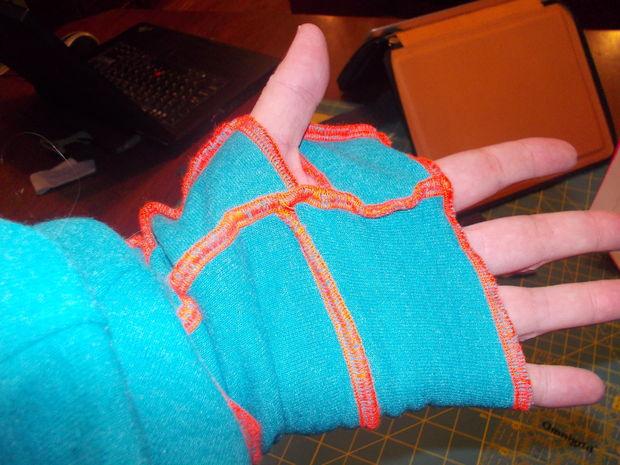 рукава-полуперчатки для теплого халата или теплой туники