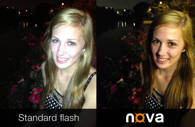 сравнение результатов работы флешки из смартфона и беспроводной вспышки Nova Wireless Flash