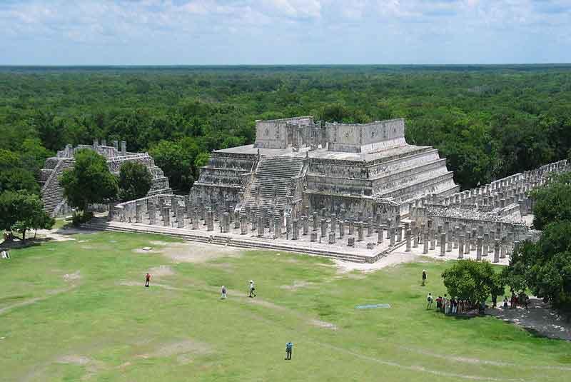 Чичен-Ица в Мексике Храм воинов