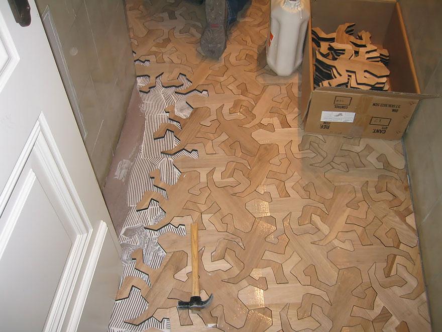 новый взгляд на паркет: деревянная мозаика
