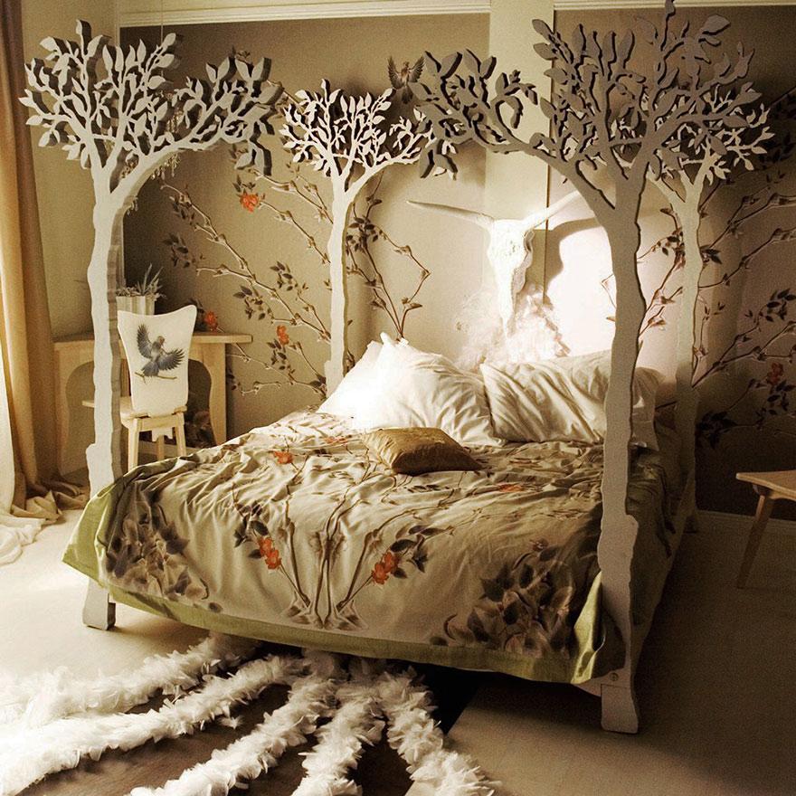 спальня для юных нимф, фей и дриад