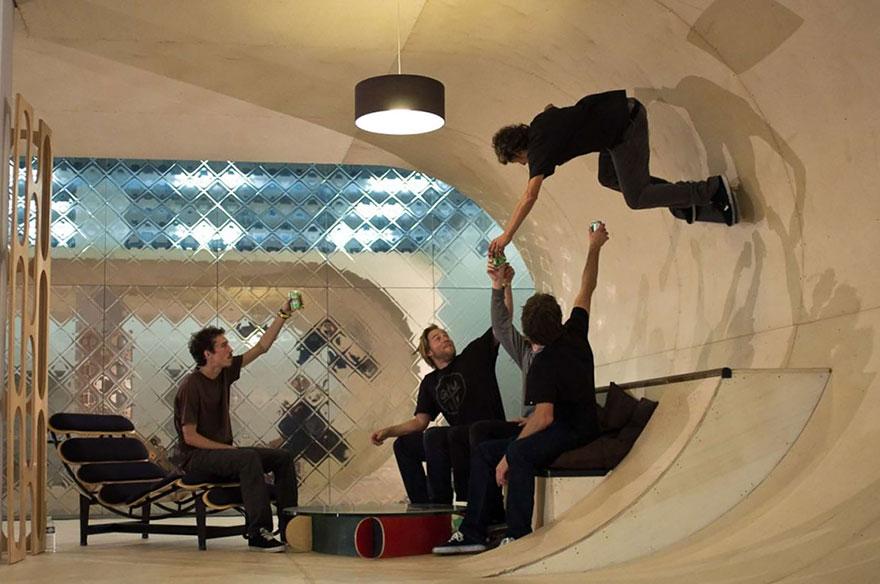 функциональная квартира скейтбордеров