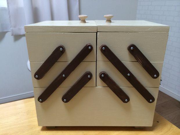 Как сделать раскладной ящик для швейных принадлежностей/косметики и проч.