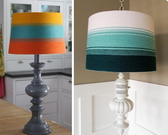 Как еще можно использовать пряжу, кроме вязания: плафоны и абажуры