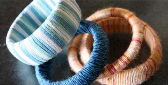Как еще можно использовать пряжу, кроме вязания: браслеты