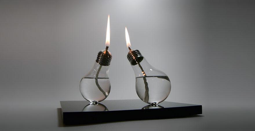масляные лампы из лампочек накаливания
