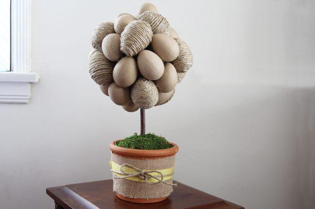 """Как сделать искусственное декоративное """"яичное дерево""""-топиарий на Пасху"""