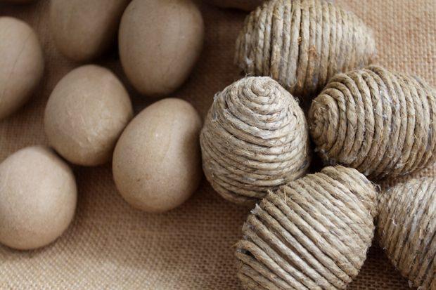 готовые яца для пасхольного дерева