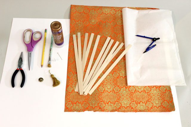 Исходные материалы для бумажного японского веера сенсу своими руками