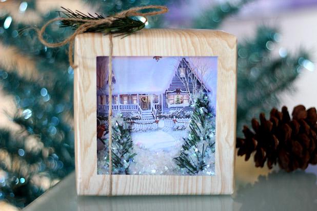 Как сделать подарочную коробочку а-ля «снежный шар»