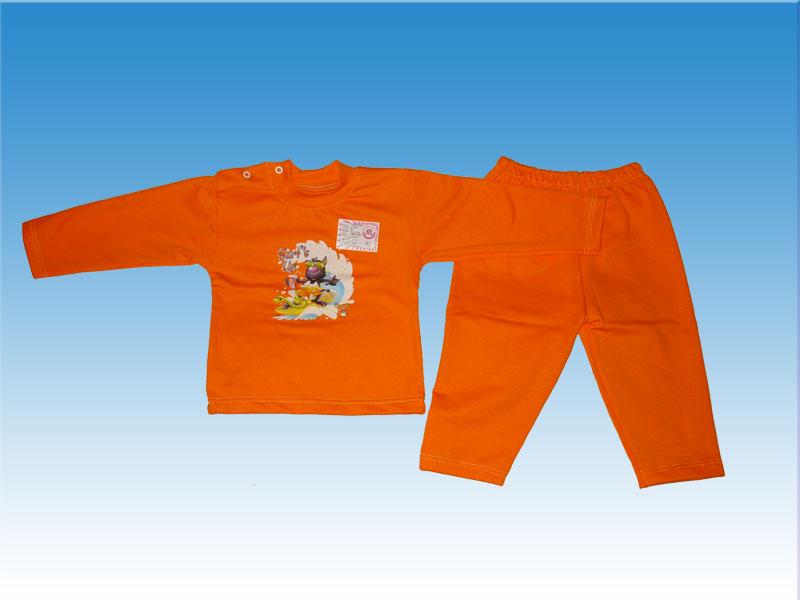 Теплая детская пижама (с длинными рукавами) из плотной ткани