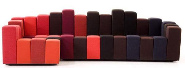 «пластилиновый» диван «Do Lo Res»