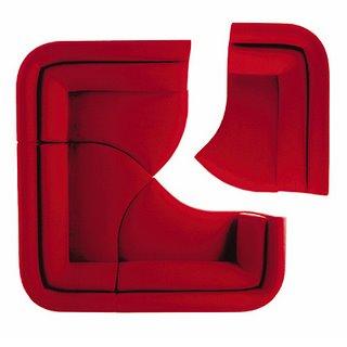 модульный диван-тарелка от Francois Bauchet