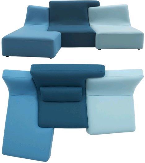 модульный диванный паззл от Philippe Nigro