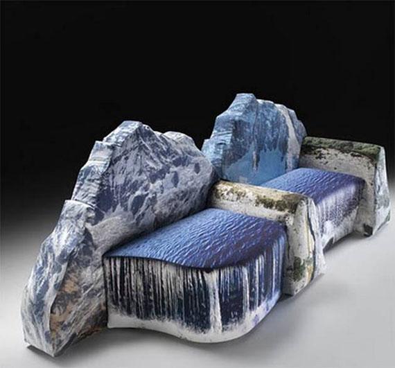 Диван-водопад