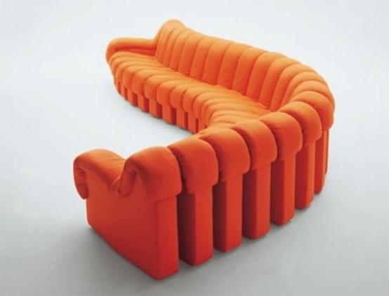 Диван, состоящий из боковин обычных диванов
