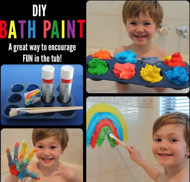 Как сделать детские краски для безопасного рисования в ванной