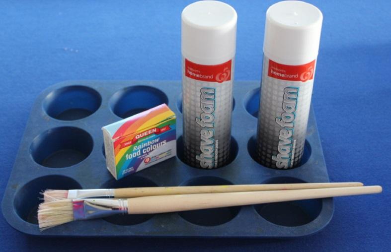 Исходные для смешивания красок своими руками для детского рисоания на кафеле