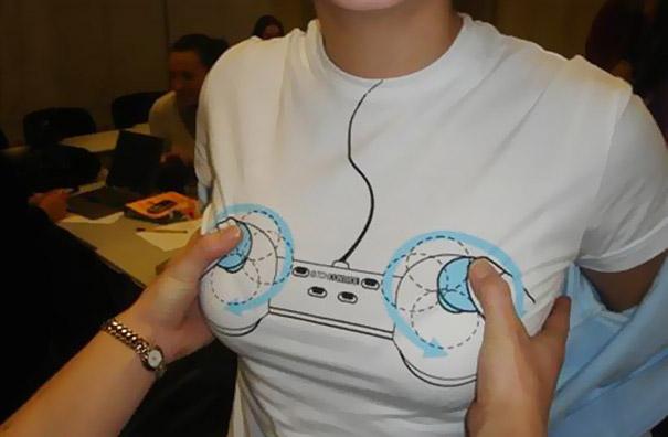самые креативные футболки: женская футболка-джойстик