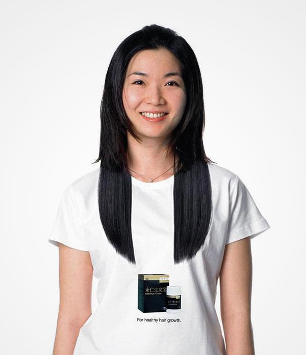 самые креативные в мире футболки: реклама средства для здорового роста волос