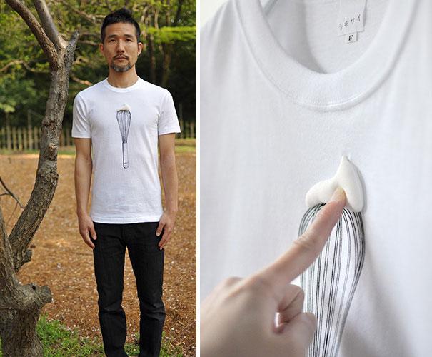 самые креативные в мире футболки: взбитые сливки