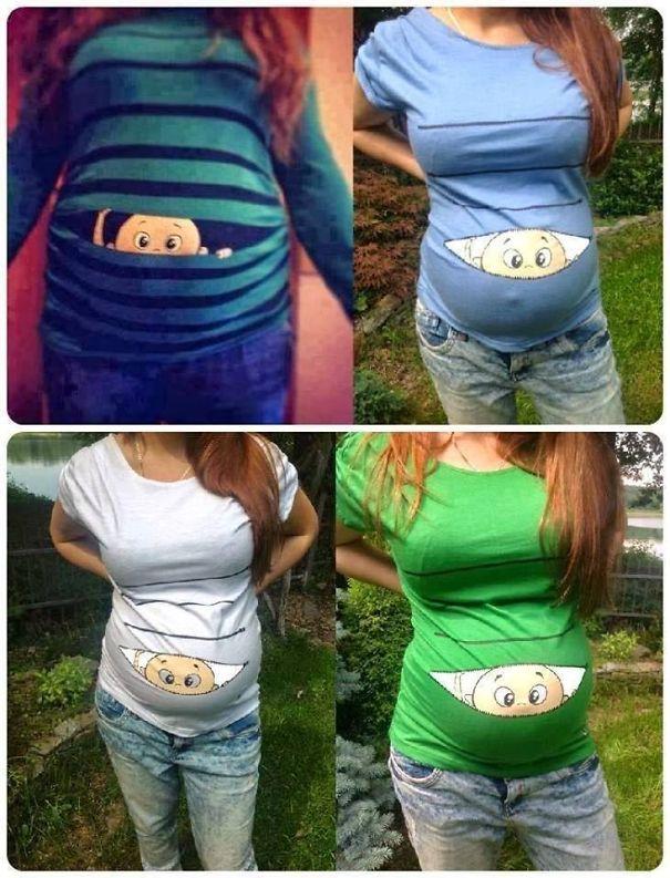 самые креативные в мире футболки: идеи для беременных