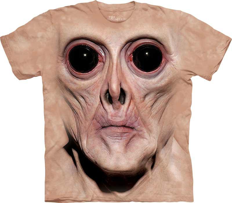 самые креативные футболки: 3D пришелец