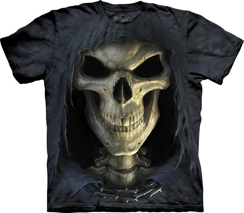 самые креативные футболки: 3D смерть, череп