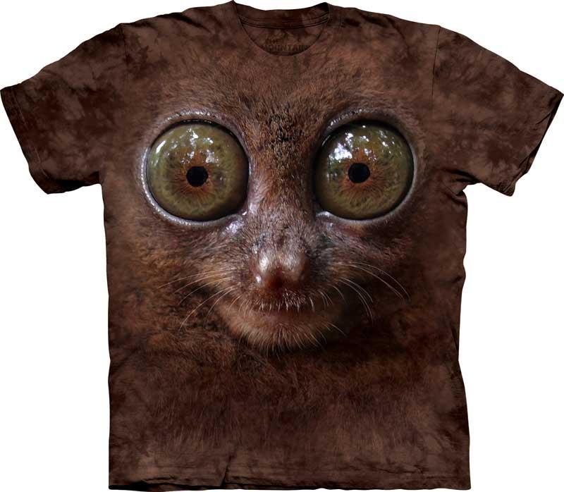 самые креативные футболки: 3D зверек с выпученными глазами - тарсиер