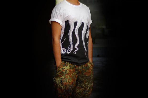 самые креативные футболки: осьминог