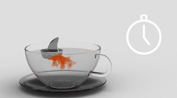 Ситечко для чая, на этот раз в виде акульего плавника