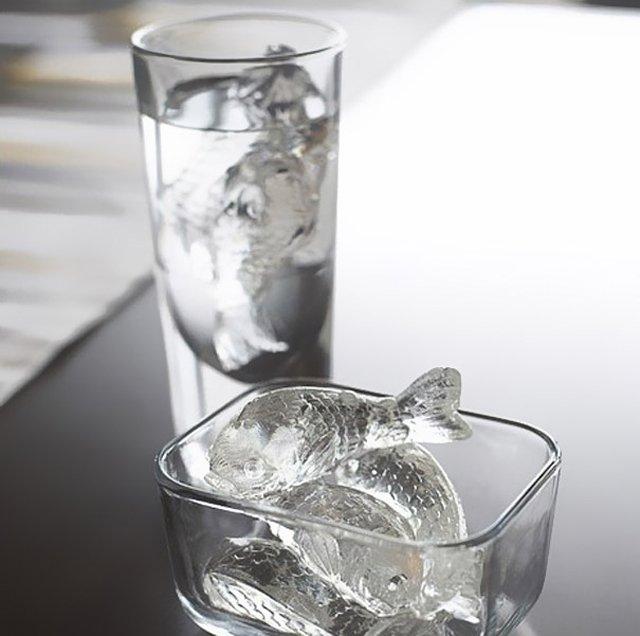 Оригинальные формочки для льда: в виде рыб