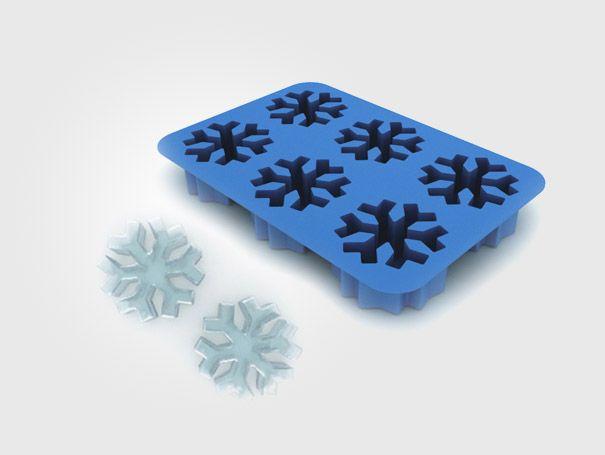Оригинальные формочки для льда: снежинки