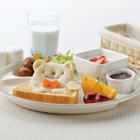 3D тосты и тонкие бутерброды в виде панд - формочка