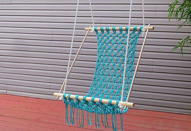 Как сделать кресло-гамак-качели для дачи своими руками (макраме)
