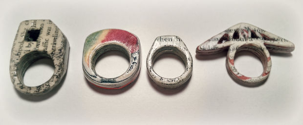 Как сделать жесткое кольцо требуемой формы из газет и другой бумаги