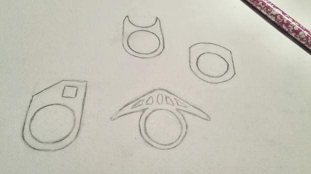 Придумайте дизайн кольца из бумаги
