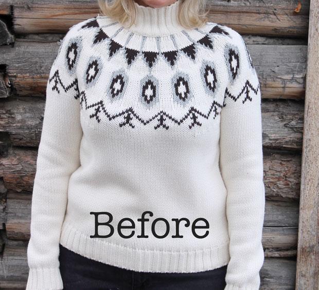 женский зимний свитер с горлом
