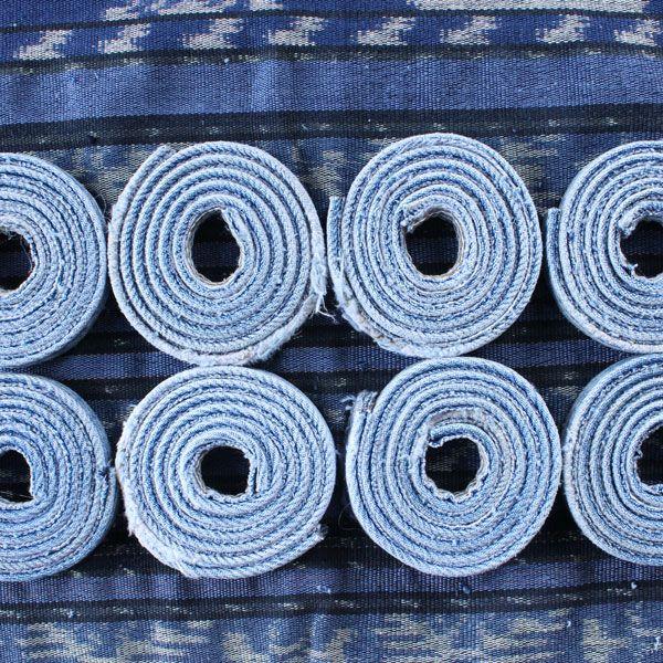 Как сделать очаровательную корзинку из старых джинс