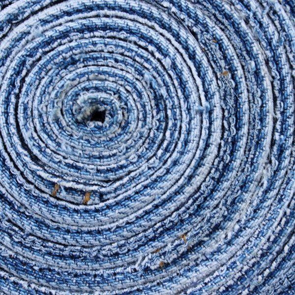 первая сторона джинсовой катушки