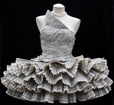 Платье балерины из газет