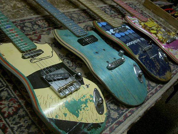 Старые скейтборды переделывают в гитары