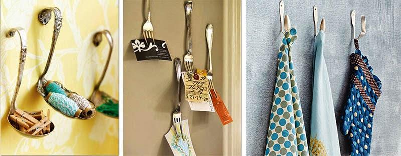 крючки и держатели из ложек, вилок и прочего