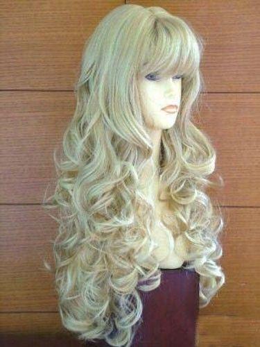 пышный исходный парик с длинными локонами