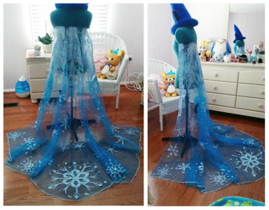 готовый плащ для костюма королевы Эльзы из «Холодного сердца»