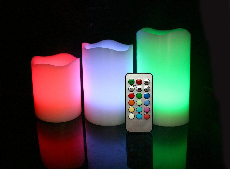 современные долгоиграющие разноцветные светящиеся в темноте искусственные свечи «свечи без огня» с пультом управления