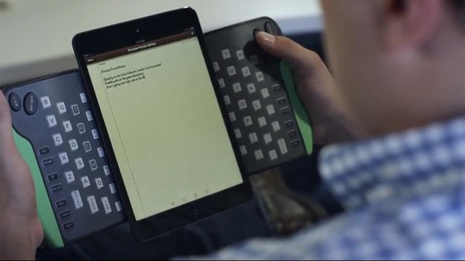 использование TREWGrip: клавиатура для планшетов и смартфонов