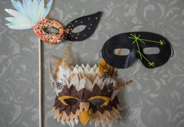 Как сделать карнавальную маску совы, а также других птиц и зверей по аналогии